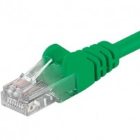 PremiumCord Patch kabel UTP RJ45-RJ45 level 5e 0.25m zelená