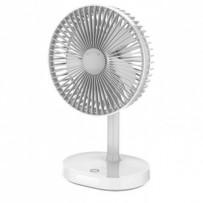 PLATINET stolní akumulátorový ventiláror 3000mAh bílo/šedý