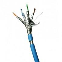 DATACOM F/FTP drát CAT6A LSOH,Eca 100m, plášť modrý