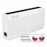 Tenda S108 - 8-port Mini Eco Fast Ethernet Switch, 10/100 Mb/s, Desktop