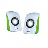 Genius repro SP-U115, přenosné repro, USB napájení, bílo/zelené