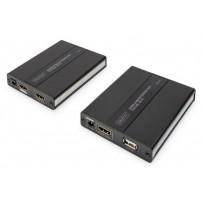 Digitus HDMI KVM Extender přes CAT 5 / 5a / 6 1080p, 60m, nízká latence