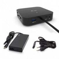 i-tec USB-C Dual Display Docking Station with Power Delivery 65W + i-tec Universal Charger 77 W