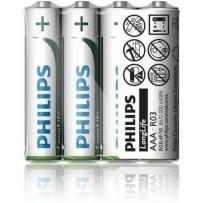 Philips baterie AAA LongLife zinkochloridová - 4ks