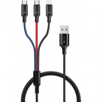 CONNECT IT Wirez 3in1 USB-C & Micro USB & Lightning, 1,2 m
