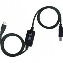 PremiumCord USB 2.0 repeater a propojovací kabel A/M-B/M 15m
