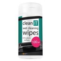 CLEAN IT čisticí ubrousky mokré na plasty 100ks (náhrada CL-29)