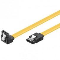 PremiumCord 0,7m SATA 3.0 datový kabel 1.5GBs / 3GBs / 6GBs, kov.západka, 90°