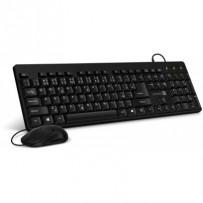 CONNECT IT Combo drátová černá klávesnice + myš, CZ + SK layout