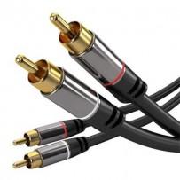 PremiumCord HQ stínený kabel 2x CINCH-2x CINCH M/M 5m