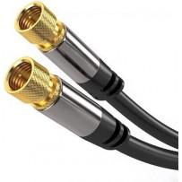 PremiumCord Satelitní antenní HQ kabel F male - F male (135 dB) 4x stíněný 1,5m