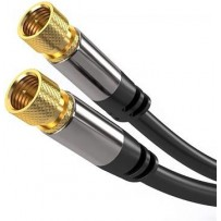 PremiumCord Satelitní antenní HQ kabel F male - F male (135 dB) 4x stíněný 5m