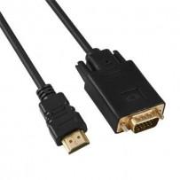 PremiumCord Kabel s HDMI na VGA převodníkem, délka kabelu 2m