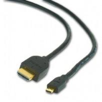 Kabel GEMBIRD HDMI-HDMI micro 3m, 1.3, M/M stíněný, zlacené kontakty, černý