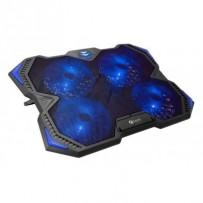 """C-TECH Chladící podložka pro ntb Zefyros (GCP-01B), casual gaming, 17,3"""", modré podsvícení, regulace otáček"""