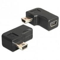 Delock adaptér USB-B mini 5-pin samec/samice 90° pravoúhlý
