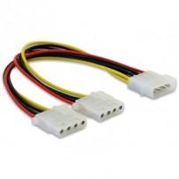 Delock Y napájecí kabel Molex samec - 2x Molex 4pin samice