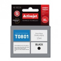 ActiveJet Ink cartridge Eps T0801 R265/R360/RX560 Black - 15 ml AE-801