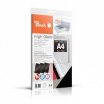 PEACH vazací zadní obaly, A4 250gsm, černé, vysoký lesk, 25 ks