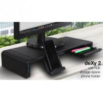 EVOLVEO deXy 2 USB, podstavec pro monitor s USB rozbočovačem,2x USB, USB-C