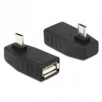 Delock Adapter USB micro-B samec - USB 2.0-A samice, OTG, pravoúhlý 270°