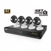 iGET HOMEGUARD HGNVK84904 - Kamerový PoE systém se SMART detekcí pohybu, 8-kanálový Ultra HD 4K rekordér NVR