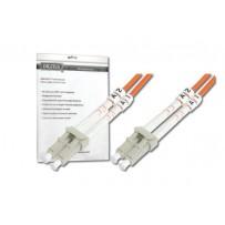 DIGITUS Fiber Optic Patch Cord, LC to LC, Multimode, OM3, 50/125 µ, Duplex Length 10m