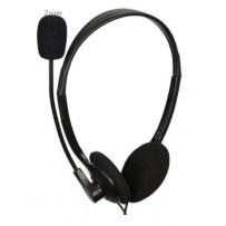 C-TECH sluchátka s mik. MHS-123, černá