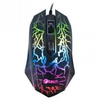 C-TECH Herní myš Tychon (GM-03P), casual gaming, herní, 7 barev podsvícení, 3200DPI, USB