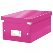 Krabice na DVD Leitz Click&Store, růžová