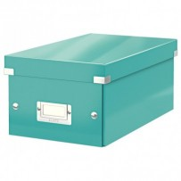 Krabice na DVD Leitz Click&Store, ledově modrá