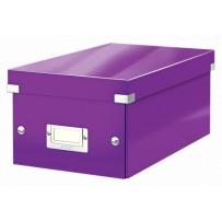 Krabice na DVD Leitz Click&Store, purpurová
