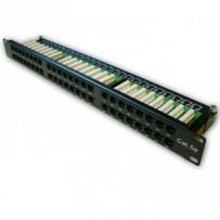 "DATACOM Patch panel 19"" UTP 48 port CAT5E LSA 1U BK (6x8p)"
