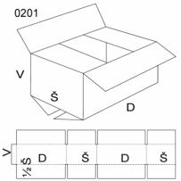 Klopová krabice, velikost 1/2M, FEVCO 0201, 590x500x380 mm
