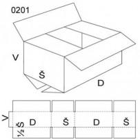 Klopová krabice, velikost 6, FEVCO 0201, 390x290x630 mm