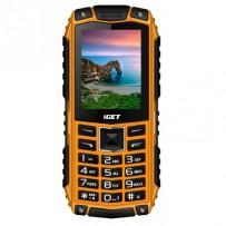 "iGET Defender D10 Orange - Odolný telefon/2,4""/320x240/Dual SIM/fotoaparát 0,3 MPx/32Mb+32Mb/baterie 2500 mAh/svítilna"