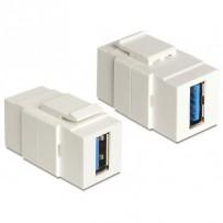 Delock Keystone modul USB 3.0 A samice - USB 3.0 A samice