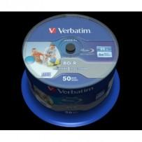 VERBATIM BD-R SL DataLife 25GB, 6x, printable, spindle 50 ks