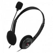 C-TECH sluchátka s mikrofonem MHS-03E, 2x 3,5mm jack, černé