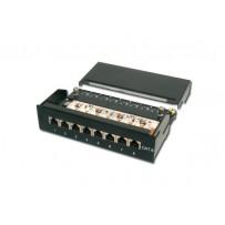 Digitus Desktop CAT 6 Patch Panel, stíněný Class E, 8-port RJ45, 8P8C, LSA, černý, 482x44x109
