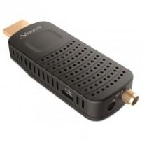 STRONG DVB-T/T2 tuner HDMI stick SRT 82/ Full HD/ H.265/HEVC/ externí anténa/ EPG/ PVR/ HDMI/ USB/ micro USB/ IR/ černý