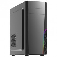 Zalman case miditower T8, bez zdroje, ATX, 1x 120mm ventilátor, 1x USB 3.0, 2x USB 2.0, RGB, černá