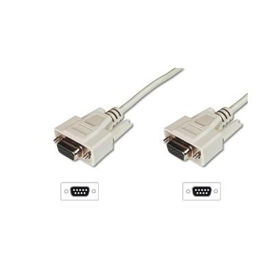 Digitus sériový kabel připojovací DB9 F/F, Měď, 2m šedý
