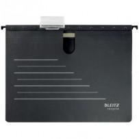 Ekologické závěsné desky s rychlovazačem Leitz Alpha RECYCLE A4, černá