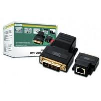 Digitus DVI extender přes CAT 5 do vzdálenosti až 70M, max rozlišení 1920X1200 při 60Hz