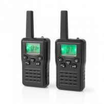Nedis WLTK1010BK - Vysílačka | Dosah 10 km | 8 Kanálů | VOX | Nabíjecí Základna | 2 Kusy | Černá