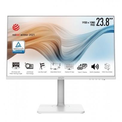 "MSI monitor Modern MD241PW, 24""/1920 x 1080 (FHD)/IPS/5ms/1000:1/250cd / m2/ HDMI/USB C/ Bílá"