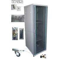 19' OCRACK OCC-25U-61SBK rozvaděč stojanový 25U/600x1000 skleněné dveře - černý