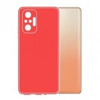 Ochranný TPU obal Lenuo pro Xiaomi Redmi Note 10, červený