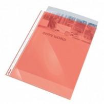 Plastové kapsy Esselte Standard A4, GC, 55 mic, sáček 10, červená